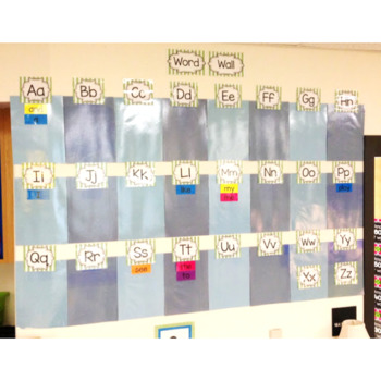 Word Wall Letters and Title