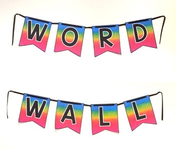 Word Wall Letters and Headers with EDITABLE word cards