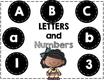 Word Wall Letters - and Numbers 1-32 - Black