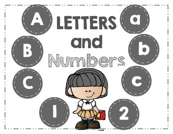 Word Wall Letters - and Numbers 1-32 - Gray