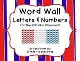 Word Wall Letters and Numbers - Red, Silver, & Blue