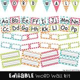 Word Wall Letters & Headers {Editable}