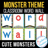 Word Wall Letters and Sight Word Cards for Monster Theme Decor