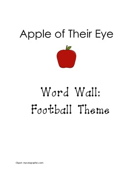Word Wall Letters and Templates Football Themed