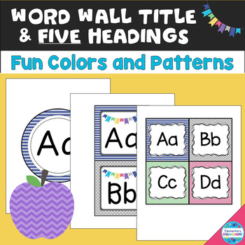 Word Wall Letters and Title in Fun Colors and Patterns