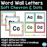 Word Wall Letters and Title in Soft Chevron and Dots