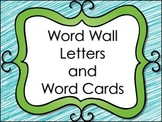 Word Wall Letters and Word List