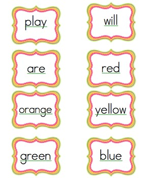 Word Wall Letters and Words