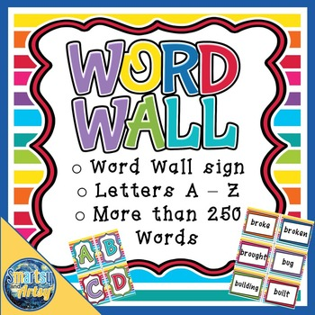 Word Wall with Letters and Words Bold and Bright Theme