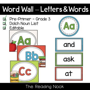 Word Wall Letters and Words - Dolch