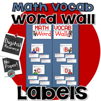 Word Wall Letters for MATH VOCAB