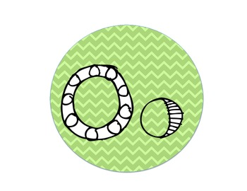 Word Wall Letters (green chevron circles)