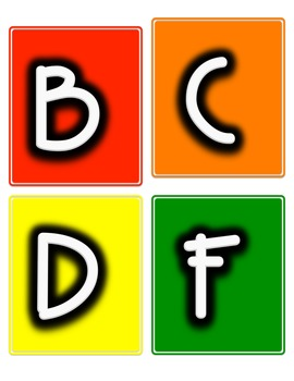 Word Wall Letters in Rainbow Colors