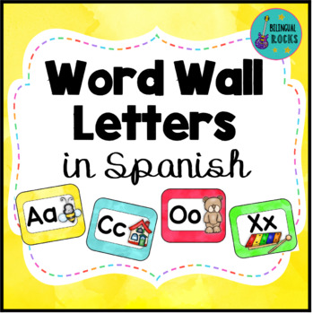 Word Wall Letters in Spanish with Pictures