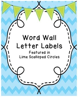 Word Wall Letters (lime scalloped circles)