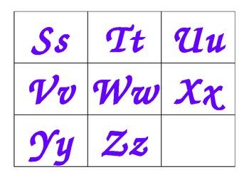 Word Wall Letters (purple)