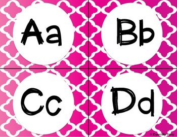 Word Wall Letters - quatrefoil