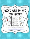 Word Wall Letters with Beginning Sound Pictures and 300 Words