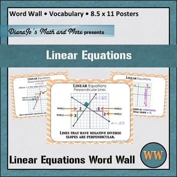 Word Problems Linear Equations Teaching Resources | Teachers Pay ...