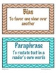 Word Wall Literary Term Cards