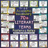 WORD WALL LITERARY VOCABULARY TERMS AND INTERACTIVE NOTES - MIDDLE SCHOOL DECOR