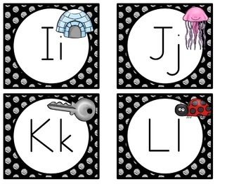 Word Wall MIX AND MATCH (BLACK Polka Dot Scribble)