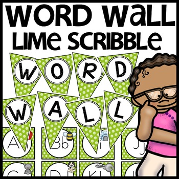 Word Wall MIX AND MATCH (LIME Polka Dot Scribble)