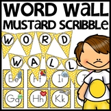Word Wall MIX AND MATCH (MUSTARD Polka Dot Scribble)