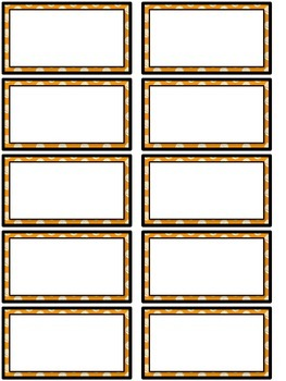 Word Wall MIX AND MATCH (ORANGE Polka Dot Scribble)