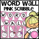 Word Wall MIX AND MATCH (PINK Polka Dot Scribble)