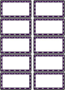 Word Wall MIX AND MATCH (PURPLE Polka Dot Scribble)