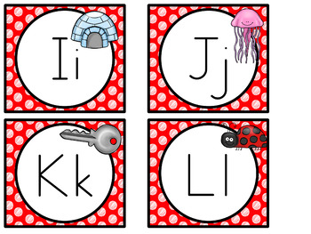 Word Wall MIX AND MATCH (RED Polka Dot Scribble)