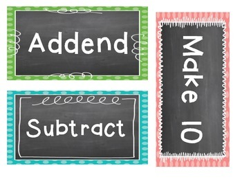 Word Wall Math Vocabulary set for Progress in Mathematics for Grade 2