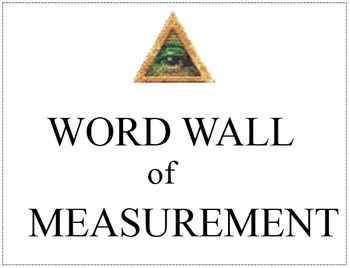 Word Wall (Measurement)