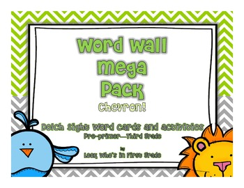 Word Wall Mega Pack-Chevron