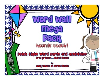 Word Wall Mega Pack-Houndstooth