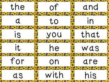 Word Wall Mini - Bee Theme