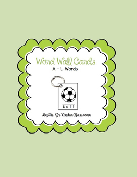 Word Wall Mini Cards A to L Set