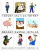 Word Wall Mini Cards Careers Set