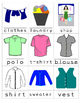 Word Wall Mini Cards Clothing Set