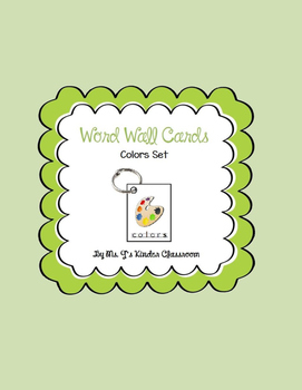 Word Wall Mini Cards Colors Set
