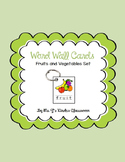 Word Wall Mini Cards Fruits and Vegetables Set