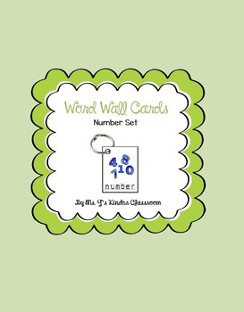 Word Wall Mini Cards Numbers Set