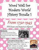 Word Wall Modern World History 1 Bundle
