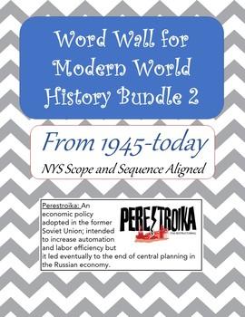 Word Wall Modern World History 2 Bundle