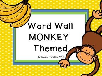 Word Wall Monkey Themed