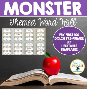 Word Wall Monster Themed