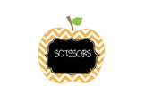 Multi Color Chevron Apple Theme Classroom Labels