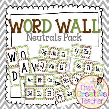 Word Wall (Neutrals Pack)