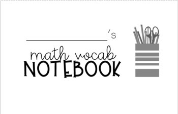 Student Vocabulary Dictionary Notebooks